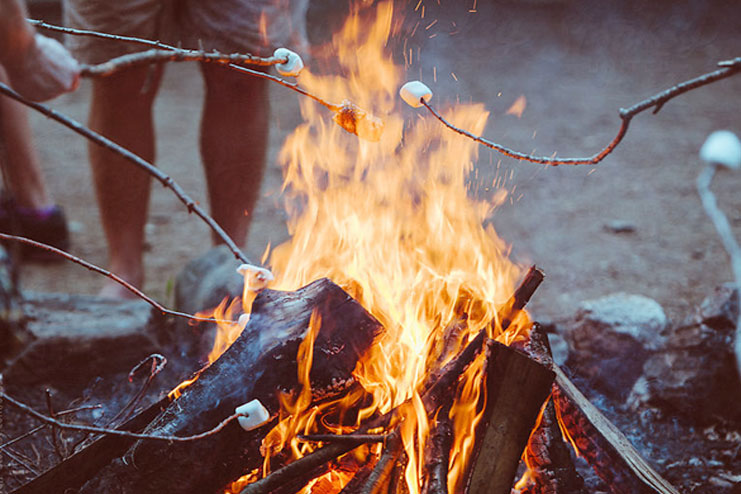 How To Roast A Perfect Marshmallow Over Campfire